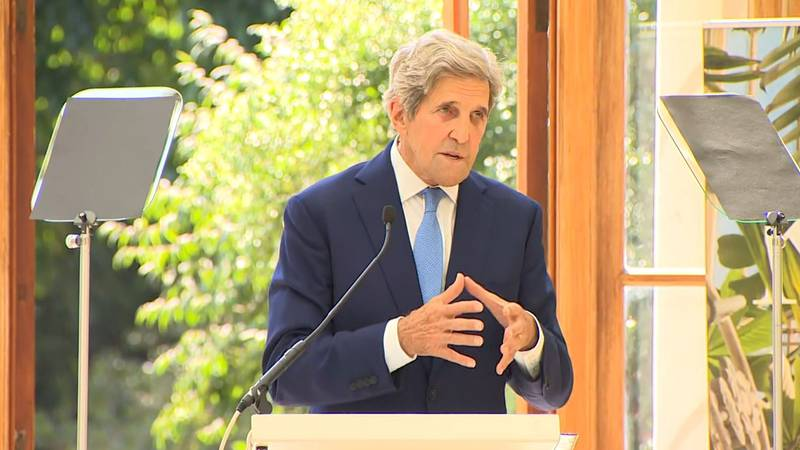 U.S. Special Presidential Envoy for Climate John Kerry said the world is running out of time...