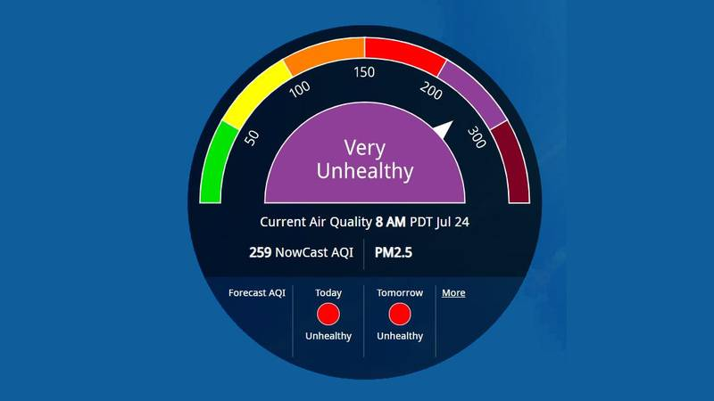 The Washoe County District Health issued a Stage 2 Air Quality Warning for the Reno area.