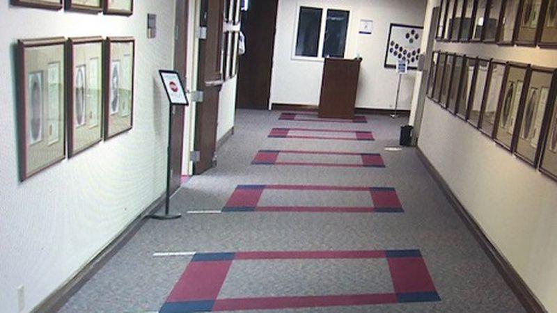 Main hallway  to the Nevada Senate at the Nevada Legislature