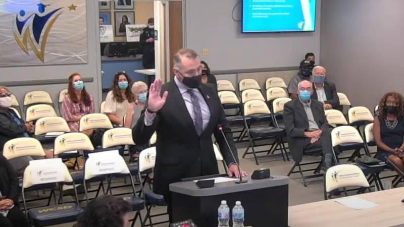Joe Rodriguez is sworn in to the Washoe County School District Trustee C seat.