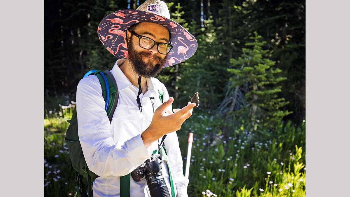 Chris Halsch, a doctoral candidate in the Ecology, Evolution, and Conservation Biology program...
