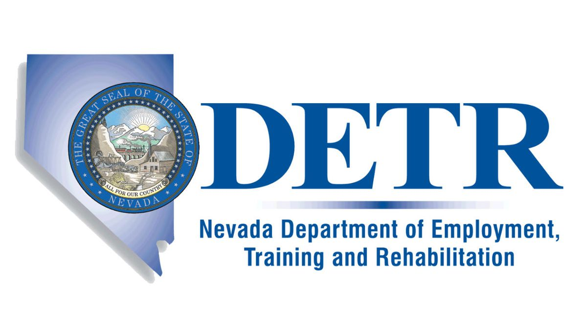 Nevada Department of Employment, Training and Rehabilitation (DETR) logo.