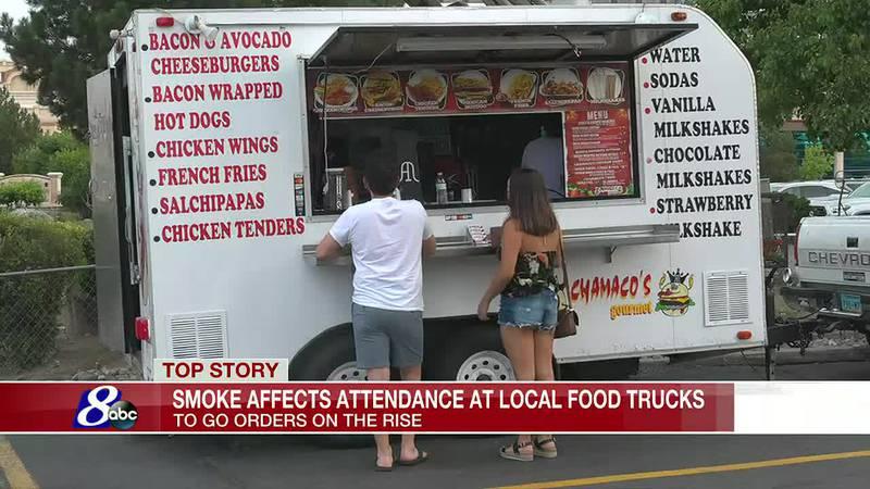 Smoke in Northern Nevada affecting local food trucks