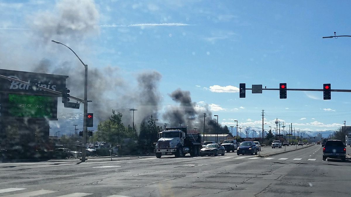 This is the power pole fire fire on Glendale Avenue. Photo provided by Johnny Johnstone.