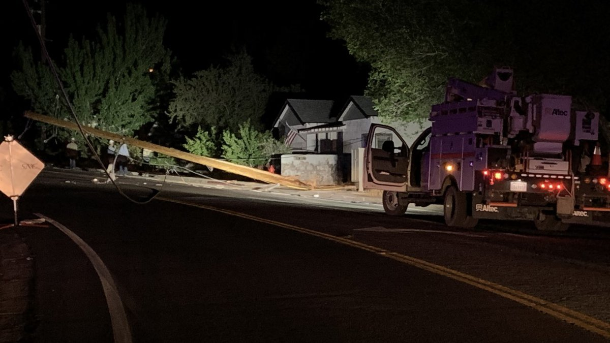 A car crash on Keystone Avenue Thursday night knocked out power to nearby homes.