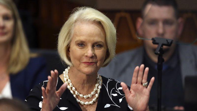 FILE - In this Jan. 13, 2020, file photo Cindy McCain, wife of former Arizona Sen. John McCain,...
