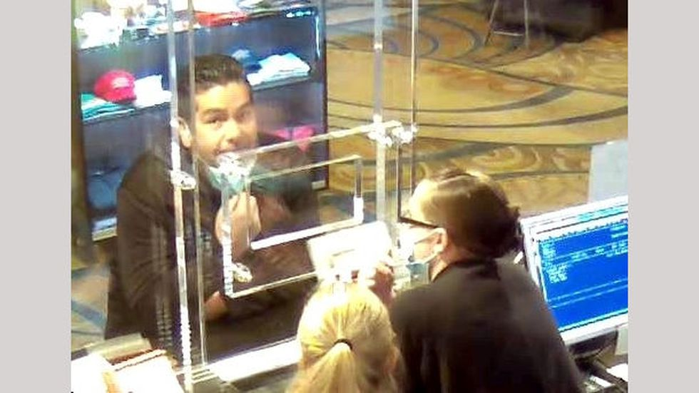 A security camera photograph released by the Washoe County Sheriff's Office who said the...