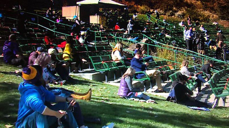 Crowd at park in Washoe County