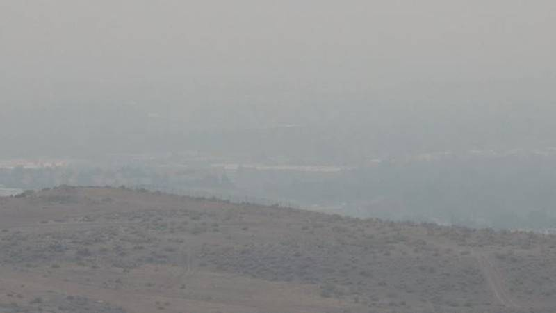 Smoke from Northern California wildfires continues to move into Northern Nevada