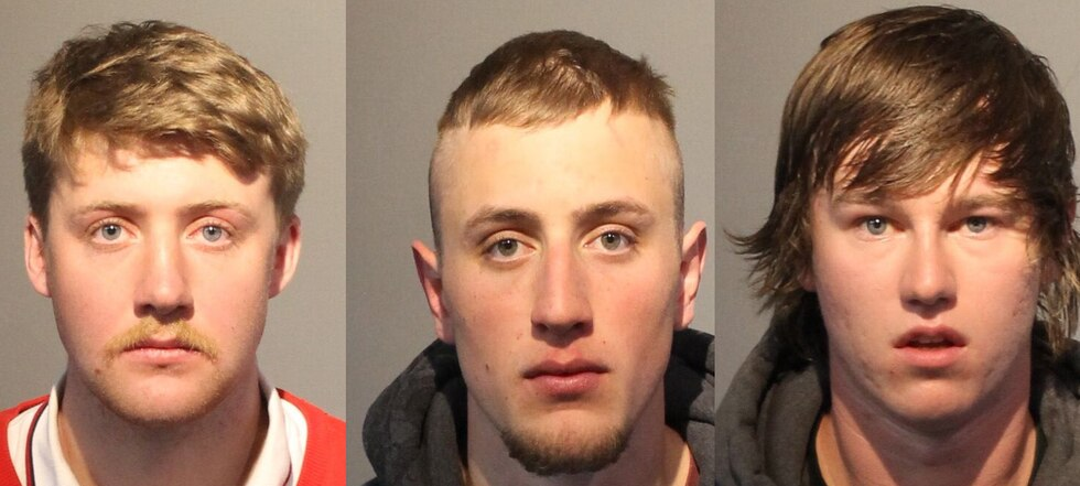 Cameron Valois, Tyler Bellig, and Christopher Rehberger are accused of a mugging and...