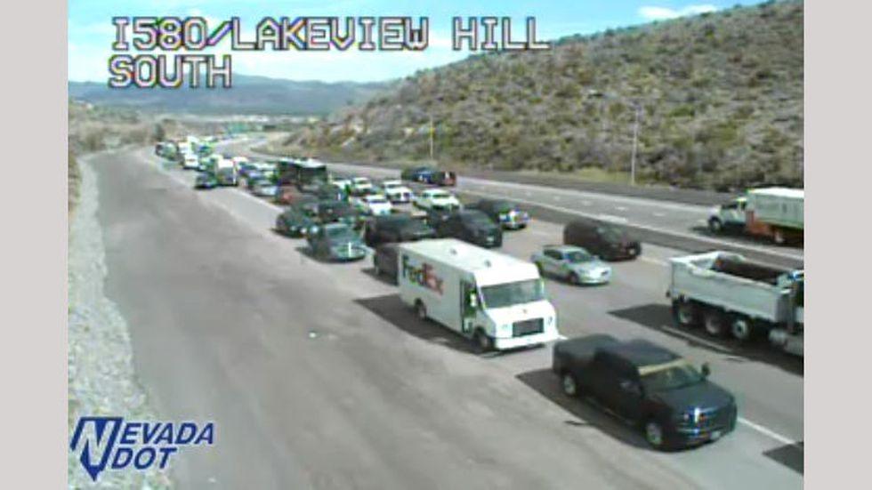 Biker incident shuts down US 395/I-580 near Carson City