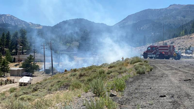 Firefighters are extinguishing a fire at Bordeaux/Timberline Drive and the Mt. Rose Highway.
