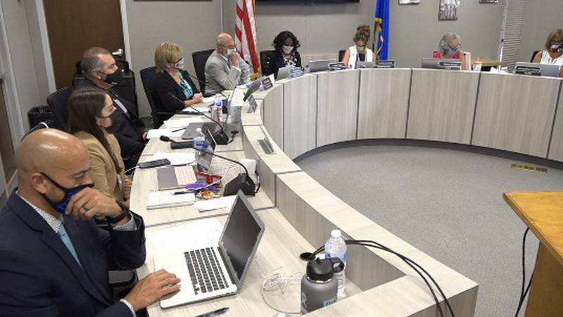 WCSD trustees talk about taking applications to build a task force to help create classroom...