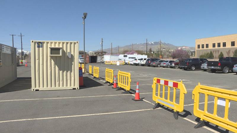 The Vaccine clinic was held across the street from the Reno Sparks Tribal Health Center.