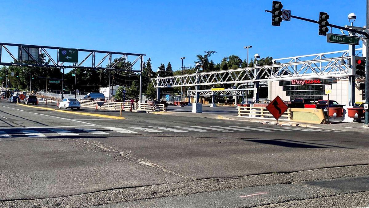 The Virginia Street bridge over Interstate 80.