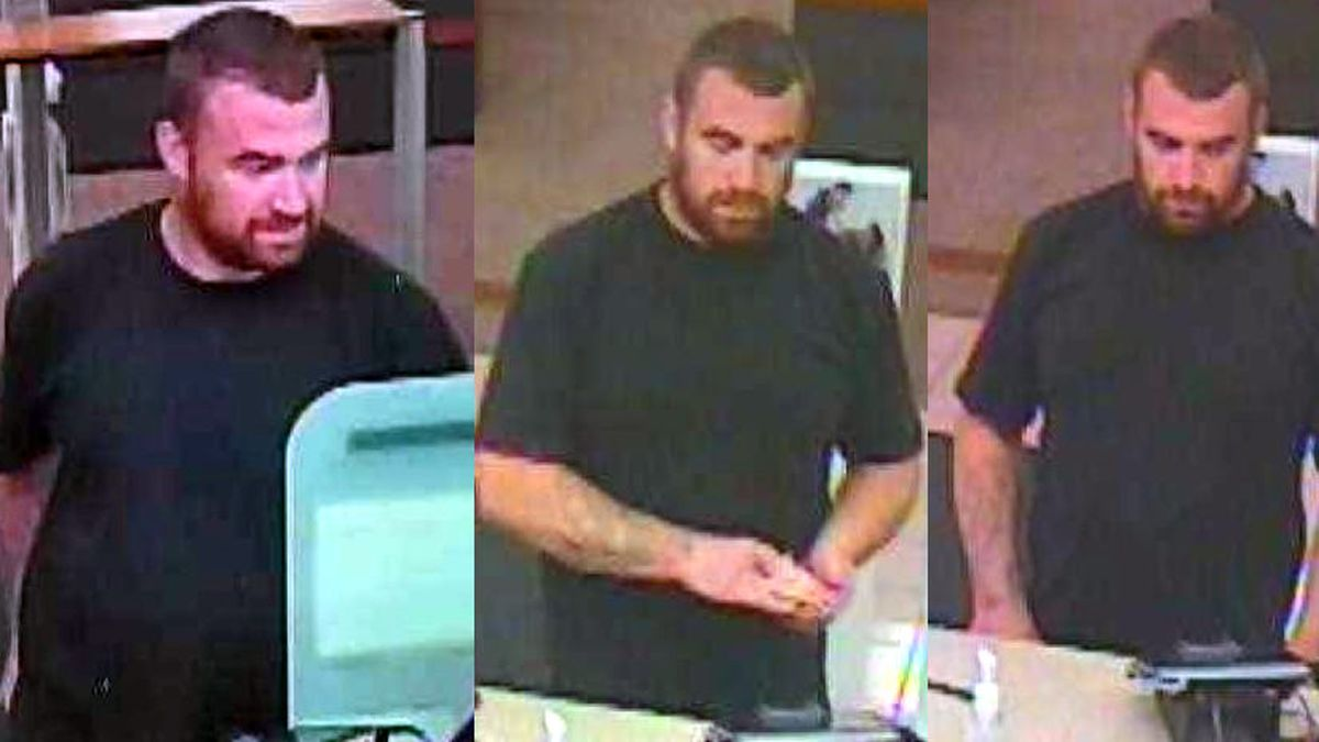 The Carson City sheriff's Office released these photographs of a suspect who allegedly used a bank card stolen in Inyo County, Caif., to withdraw money from a Carson City bank.