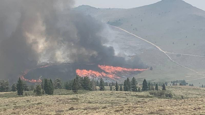 Burn operation in SE portion of Tamarack Fire on Sunday, July 25.