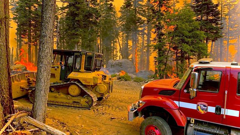 Butte Units of Cal fire at the Dixie Fire.