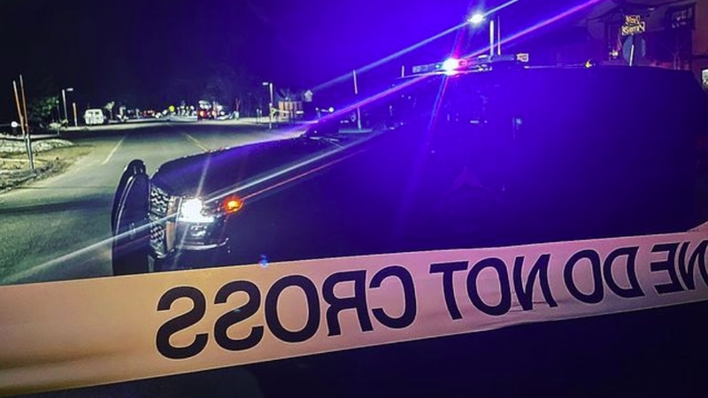 Police investigate a shooting on Sierra Boulevard in South Lake Tahoe on April 7, 2021.