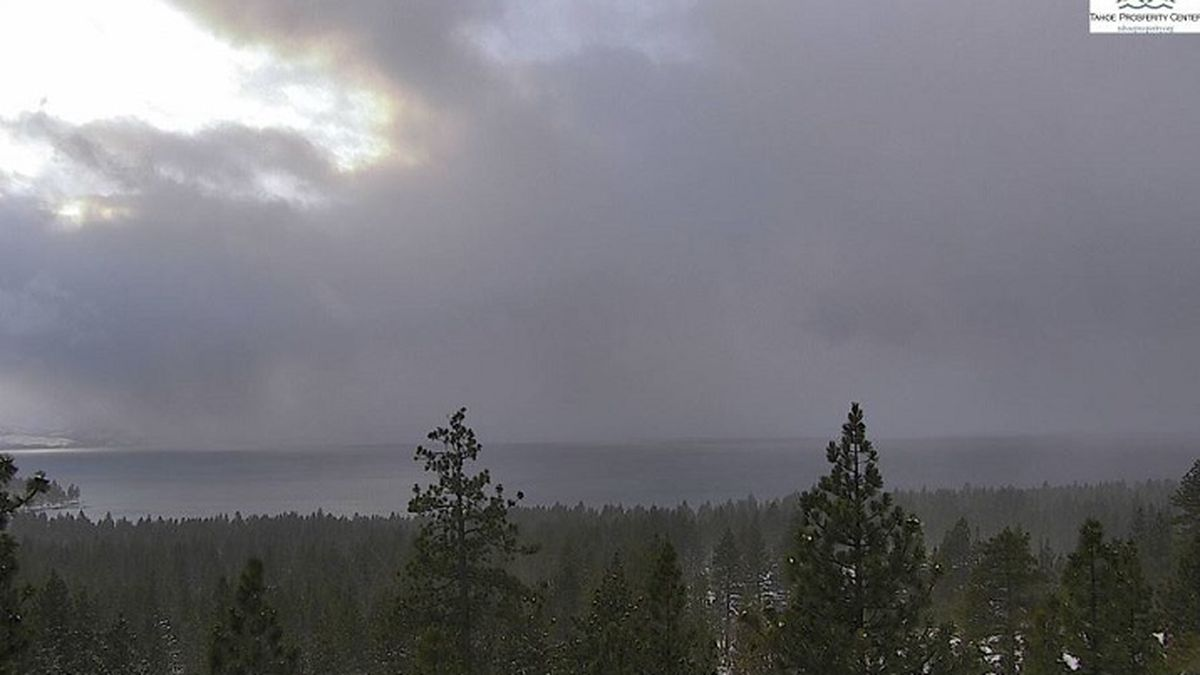 A view of Lake Tahoe at Zephyr Cove on December 2, 2019.  Photo courtesy of AlertWildfire.org.