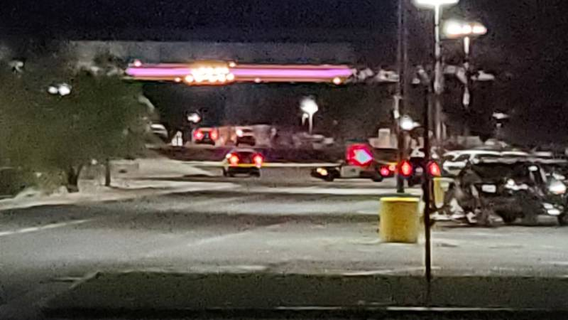 Reno Police respond to a shots fired incident at the Grand Sierra Resort on Oct. 15, 2021.