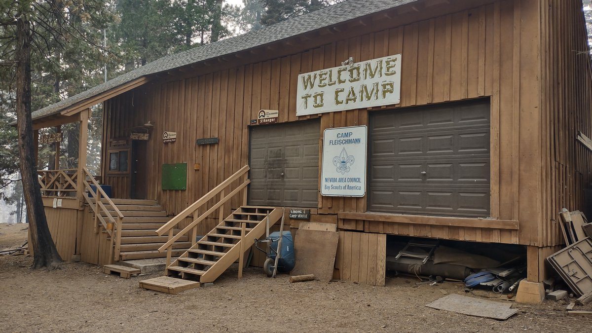 Camp Fleischmann was threatened by the Dixie Fire, but survived mostly intact.