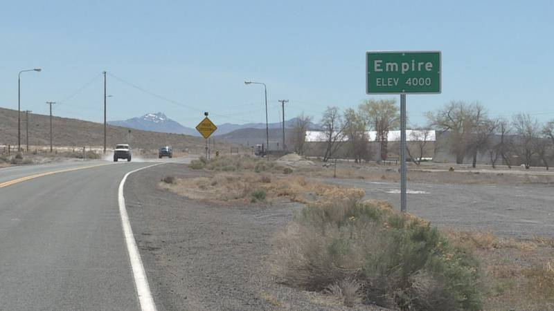Empire is located about 100 miles north of Reno