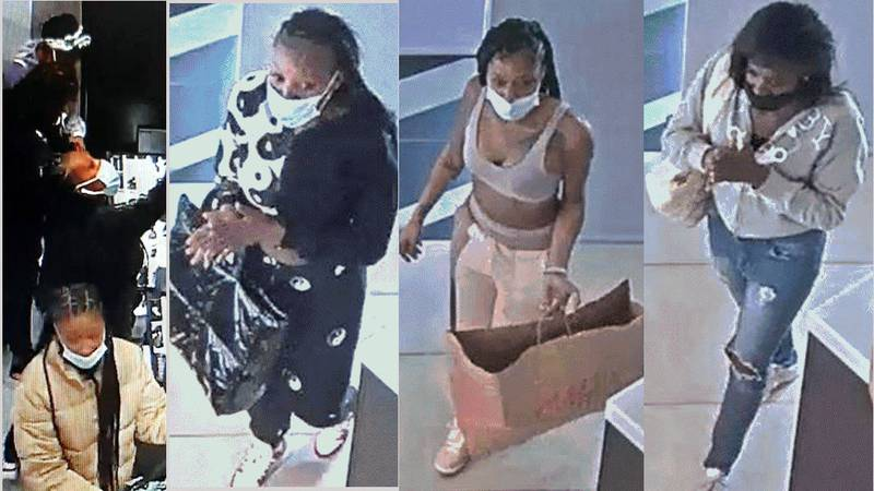 The Reno Police Department released these photographs of suspects in three Reno robberies at...