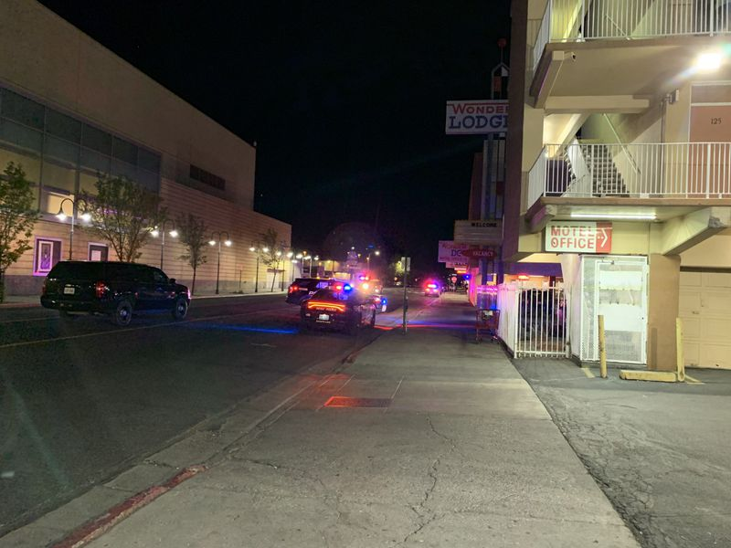 Reno Police investigates possible shots fired outside the Wonder Lodge.