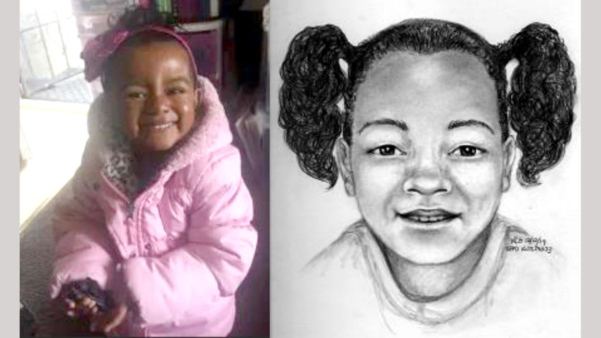 A picture of Arianna Fitts and what a San Francisco Police Department artist thinks she looks...