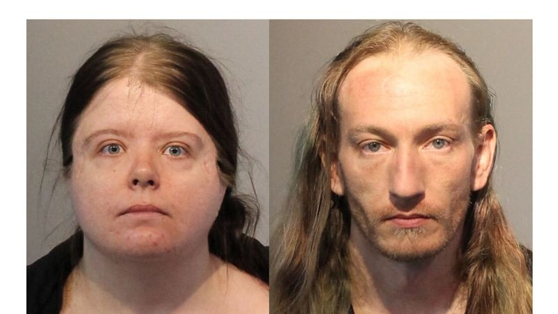 Adriana Clark, 22, and Joseph Brown, 34, were arrested on April 7 after someone called police...