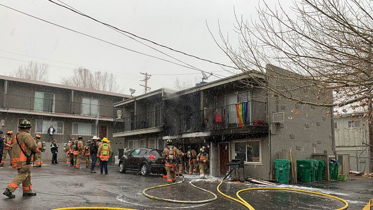 A fire seriously damaged an apartment building at Sutro Street and Wedekind Road in Reno on Wednesday, 12/4/2019.