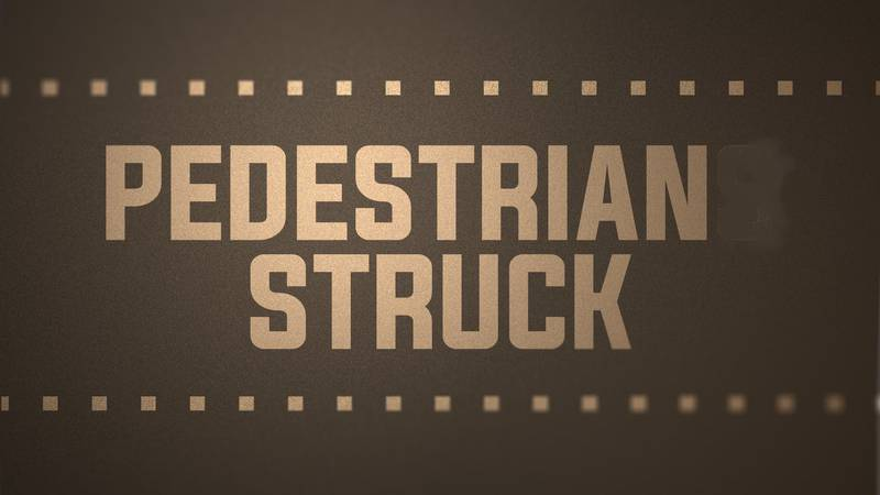 Pedestrian struck graphic
