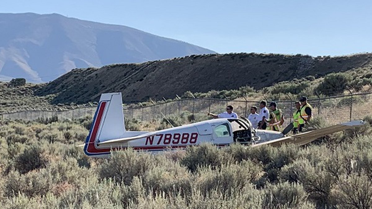 A small airplane crashed on landing at the Reno Stead Airport.