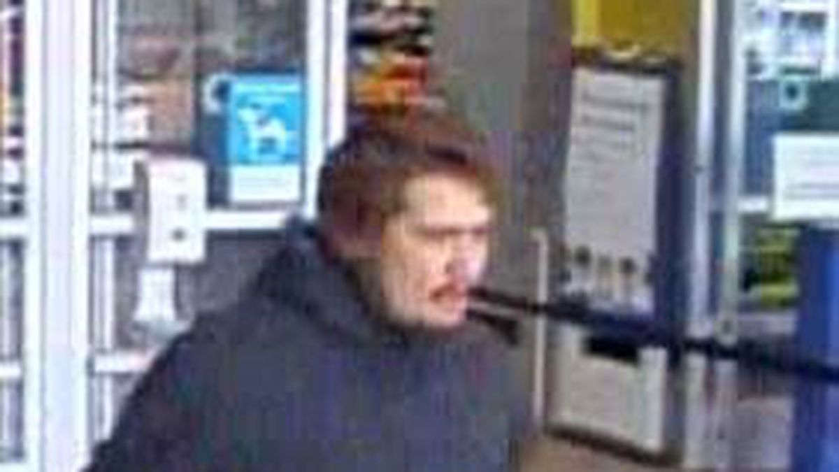 Authorities said the suspect was seen leaving the store with merchandise hidden inside his...