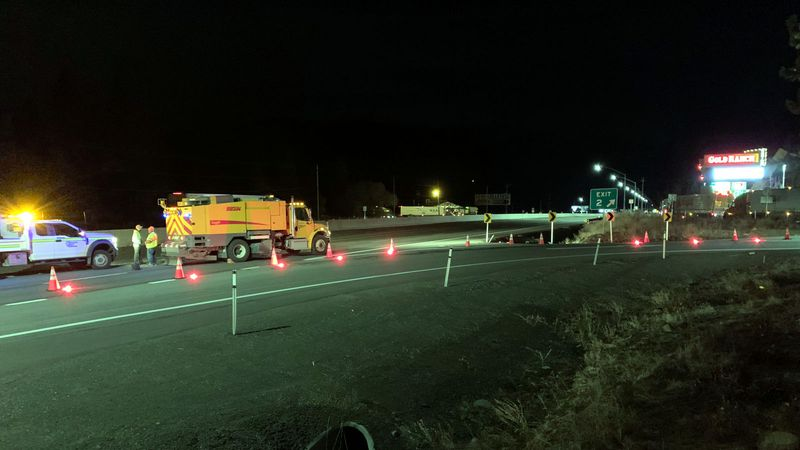 The closure of Interstate 80 at Gold Ranch.
