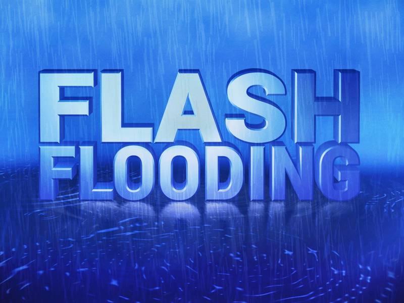 Flash flooding graphic