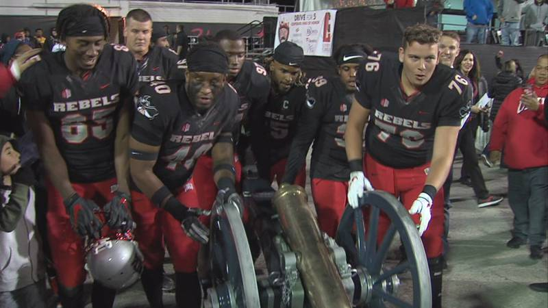 The UNLV football team has had the Fremont Cannon since November 24th, 2018.