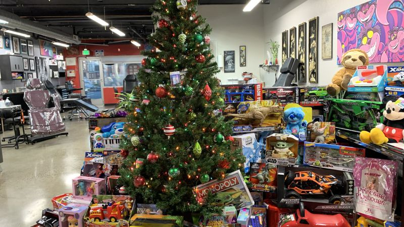 Toy donations are being accepted for local kids in need at My Religion Tattoo in Reno.