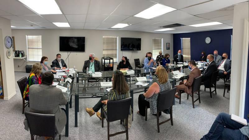 Senator Jacky Rosen talking with the Nevada Housing Coalition