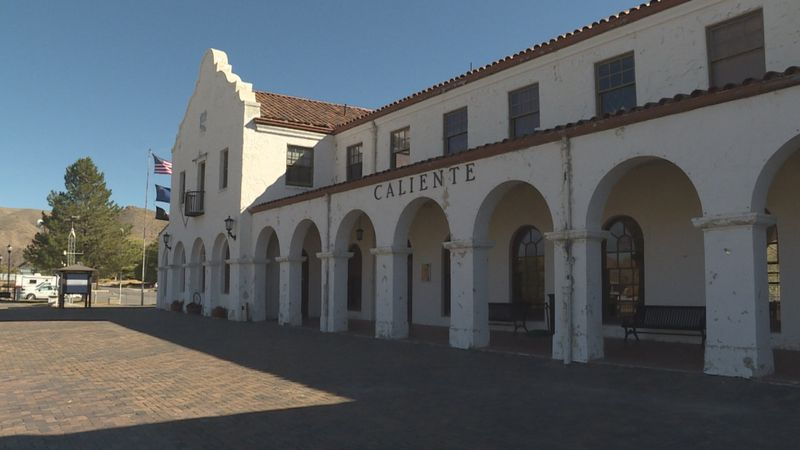 The Caliente railroad depot was built in 1923. It's now the city's headquarters.