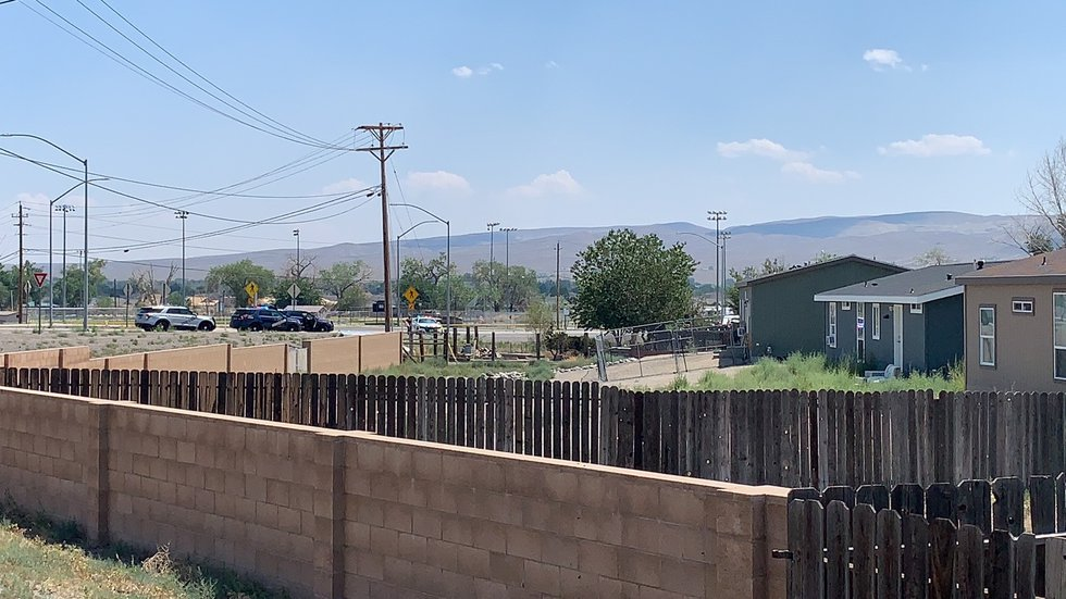 Authorities on scene of a barricaded suspect inside a house in Fernley.