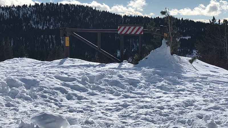 Impassable mountain road in Northern Nevada
