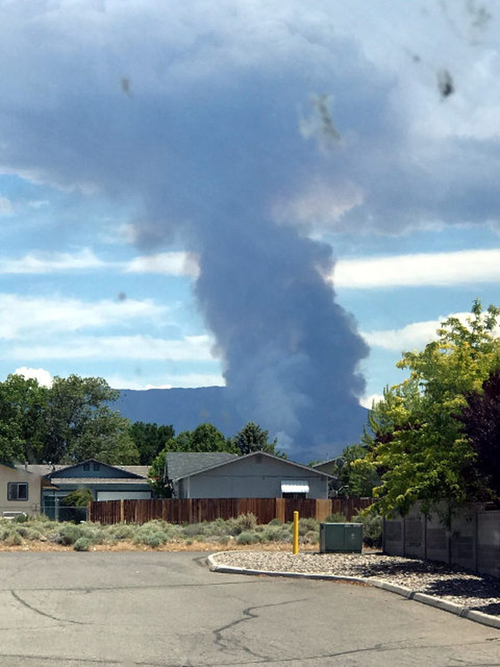 Ronald Beever submitted this photo of the Monarch Fire in Douglas County.