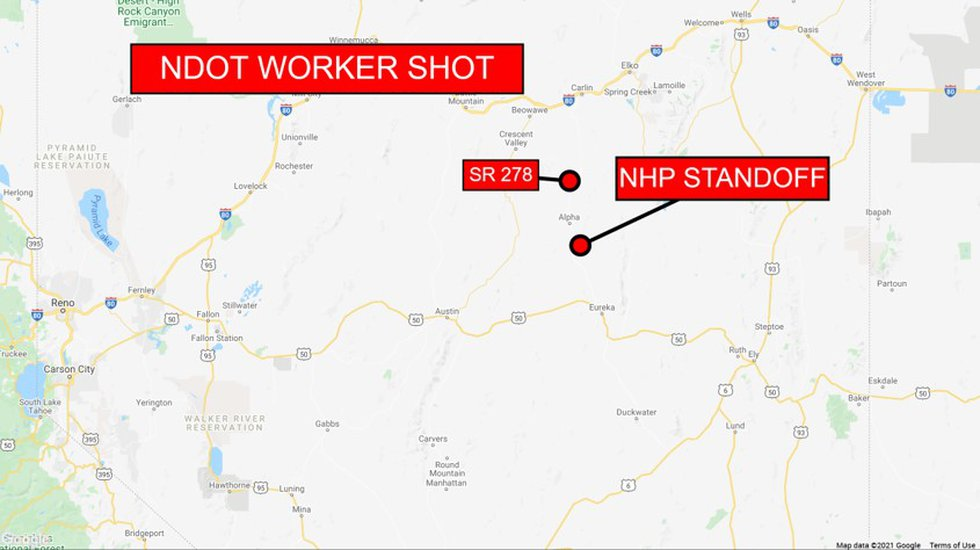 An NDOT employee was shot Wednesday morning in Eureka County. A standoff with the suspect has...