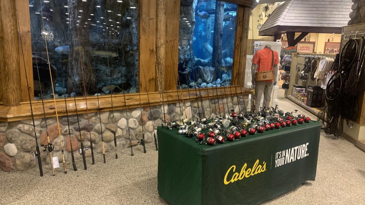 Cabela's donated dozens of rods and reels to the Sparks Rotary Club for free fishing day.