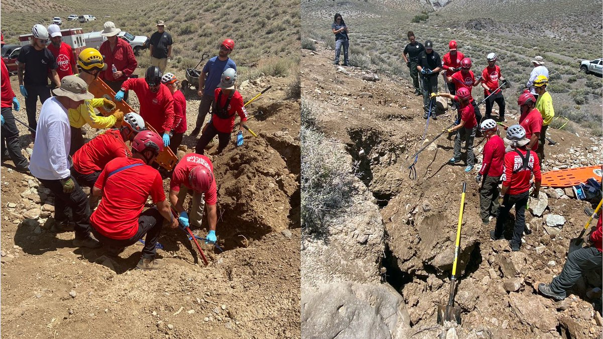 The Washoe Corny Sheriff's Office released these photos of a HASTY ream recovery of a...