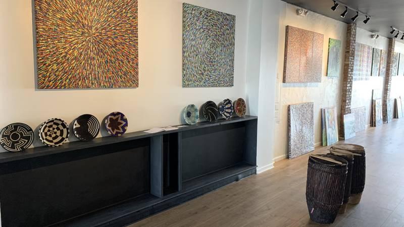 Art from Rwanda on display at the Savage Mystic Gallery in midtown Reno.