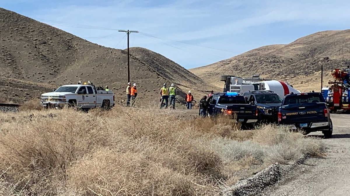 An Amtrak train hit a cement truck on the tracks at Derby Dam on Thursday, February 20, 2020.