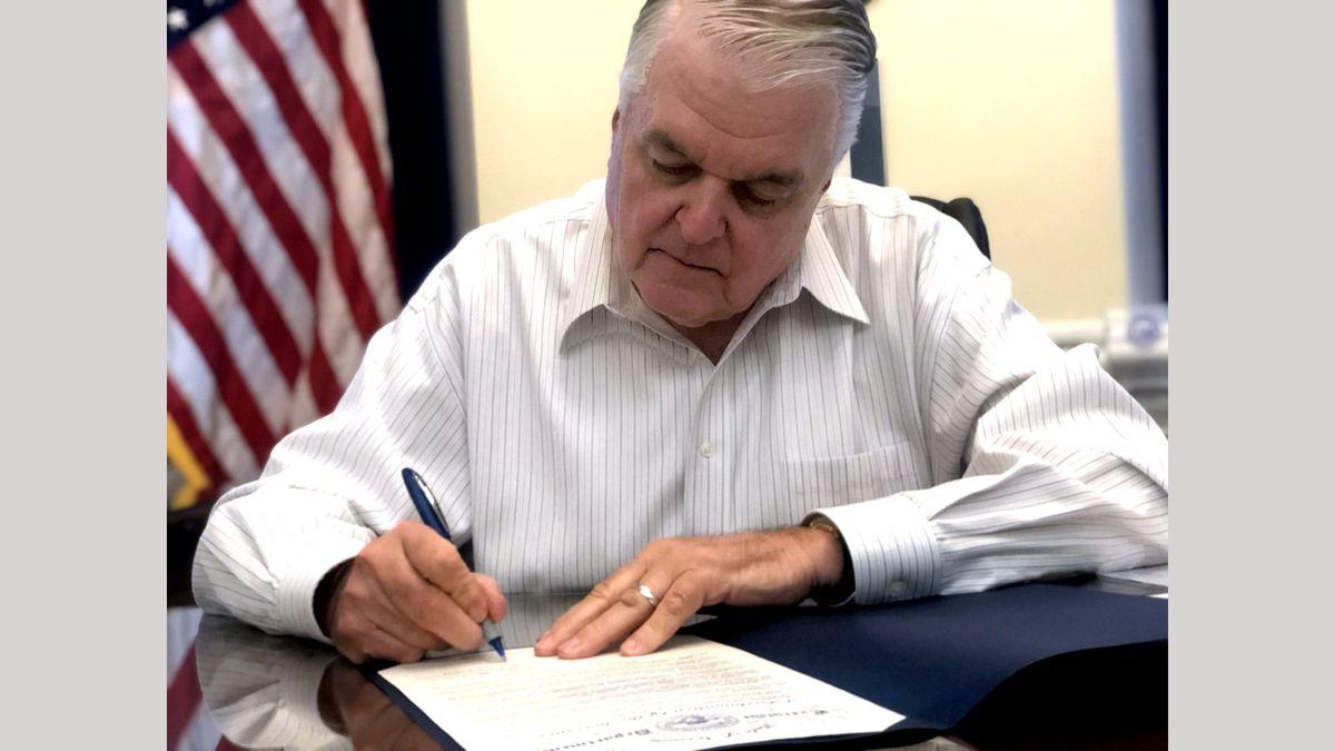 Nevada Gov. Steve Sisolak signs a resolution calling racism a public health prblem.